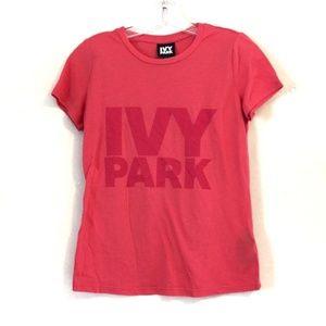IVY PARK Dark Pink Short Sleeve Tee T-Shirt